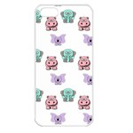 Animals Pastel Children Colorful Apple iPhone 5 Seamless Case (White) Front