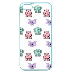 Animals Pastel Children Colorful Apple Seamless Iphone 5 Case (color)