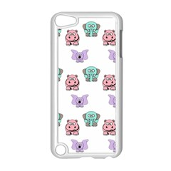 Animals Pastel Children Colorful Apple Ipod Touch 5 Case (white)