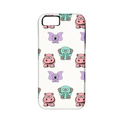Animals Pastel Children Colorful Apple Iphone 5 Classic Hardshell Case (pc+silicone)