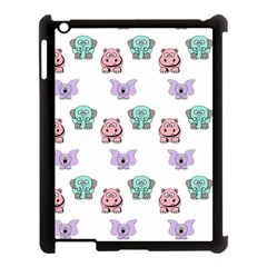 Animals Pastel Children Colorful Apple Ipad 3/4 Case (black)