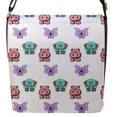 Animals Pastel Children Colorful Flap Messenger Bag (s)