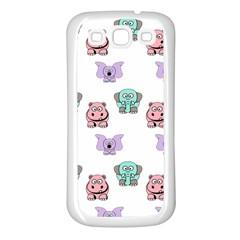 Animals Pastel Children Colorful Samsung Galaxy S3 Back Case (white)