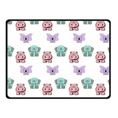 Animals Pastel Children Colorful Double Sided Fleece Blanket (small)