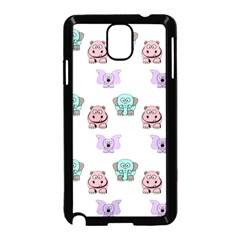 Animals Pastel Children Colorful Samsung Galaxy Note 3 Neo Hardshell Case (black)