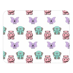Animals Pastel Children Colorful Double Sided Flano Blanket (large)