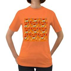 Animals Pet Cats Mammal Cartoon Women s Dark T Shirt