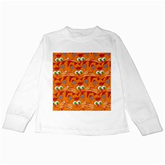 Animals Pet Cats Mammal Cartoon Kids Long Sleeve T-Shirts