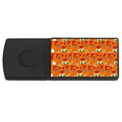 Animals Pet Cats Mammal Cartoon Usb Flash Drive Rectangular (4 Gb)