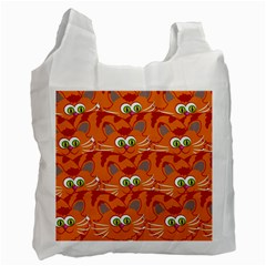 Animals Pet Cats Mammal Cartoon Recycle Bag (two Side)