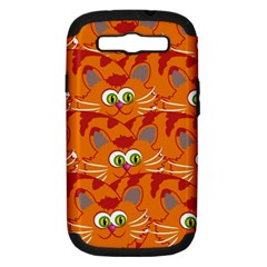 Animals Pet Cats Mammal Cartoon Samsung Galaxy S Iii Hardshell Case (pc+silicone)