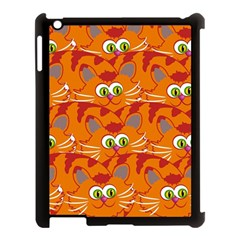 Animals Pet Cats Mammal Cartoon Apple Ipad 3/4 Case (black)