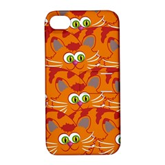Animals Pet Cats Mammal Cartoon Apple Iphone 4/4s Hardshell Case With Stand