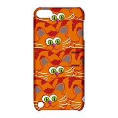 Animals Pet Cats Mammal Cartoon Apple Ipod Touch 5 Hardshell Case With Stand