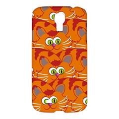 Animals Pet Cats Mammal Cartoon Samsung Galaxy S4 I9500/i9505 Hardshell Case
