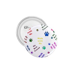 Animals Pets Dogs Paws Colorful 1 75  Buttons