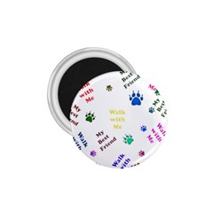Animals Pets Dogs Paws Colorful 1 75  Magnets