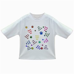 Animals Pets Dogs Paws Colorful Infant/toddler T Shirts