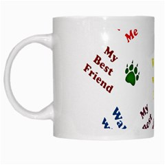 Animals Pets Dogs Paws Colorful White Mugs