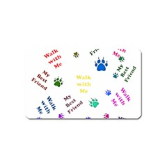 Animals Pets Dogs Paws Colorful Magnet (name Card)
