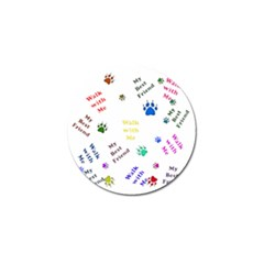 Animals Pets Dogs Paws Colorful Golf Ball Marker (4 Pack)