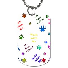 Animals Pets Dogs Paws Colorful Dog Tag (two Sides)