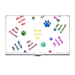 Animals Pets Dogs Paws Colorful Business Card Holders