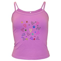 Animals Pets Dogs Paws Colorful Dark Spaghetti Tank