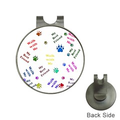 Animals Pets Dogs Paws Colorful Hat Clips With Golf Markers