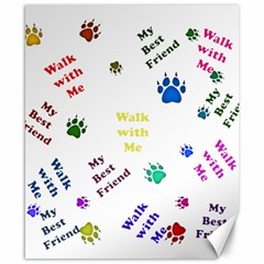 Animals Pets Dogs Paws Colorful Canvas 8  X 10