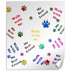 Animals Pets Dogs Paws Colorful Canvas 20  X 24