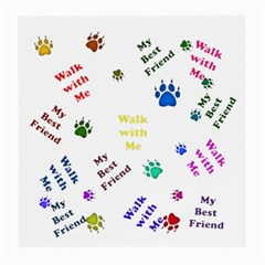 Animals Pets Dogs Paws Colorful Medium Glasses Cloth