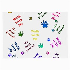 Animals Pets Dogs Paws Colorful Large Glasses Cloth (2 Side)