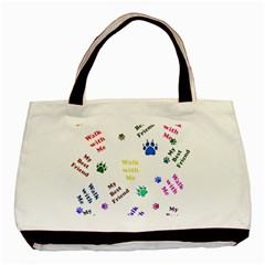 Animals Pets Dogs Paws Colorful Basic Tote Bag (two Sides)