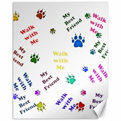 Animals Pets Dogs Paws Colorful Canvas 11  X 14