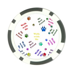 Animals Pets Dogs Paws Colorful Poker Chip Card Guard