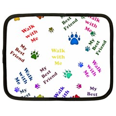 Animals Pets Dogs Paws Colorful Netbook Case (large)