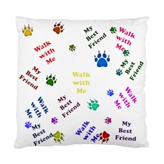 Animals Pets Dogs Paws Colorful Standard Cushion Case (two Sides)