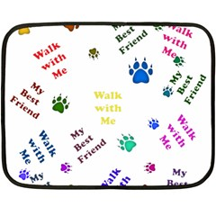 Animals Pets Dogs Paws Colorful Double Sided Fleece Blanket (mini)