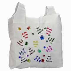 Animals Pets Dogs Paws Colorful Recycle Bag (one Side)