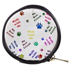 Animals Pets Dogs Paws Colorful Mini Makeup Bags