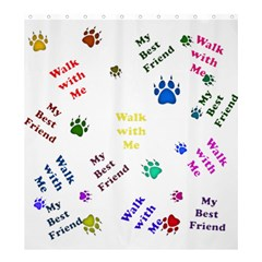 Animals Pets Dogs Paws Colorful Shower Curtain 66  X 72  (large)