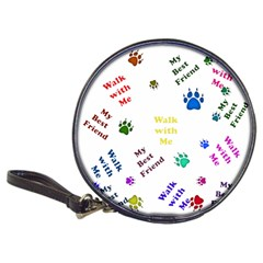 Animals Pets Dogs Paws Colorful Classic 20 Cd Wallets