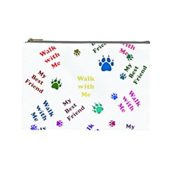 Animals Pets Dogs Paws Colorful Cosmetic Bag (large)