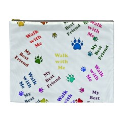 Animals Pets Dogs Paws Colorful Cosmetic Bag (xl)