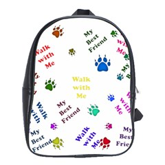 Animals Pets Dogs Paws Colorful School Bags(large)