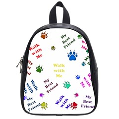 Animals Pets Dogs Paws Colorful School Bags (small)