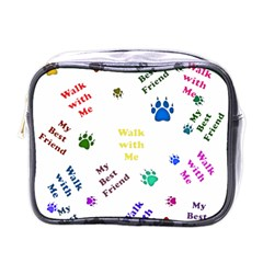 Animals Pets Dogs Paws Colorful Mini Toiletries Bags