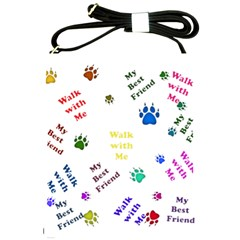 Animals Pets Dogs Paws Colorful Shoulder Sling Bags