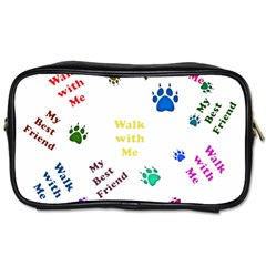Animals Pets Dogs Paws Colorful Toiletries Bags